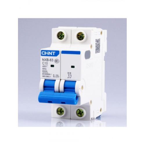 Автоматический выключатель NXB-63 2P 16A 6кА х-ка C (CHINT), арт.814092