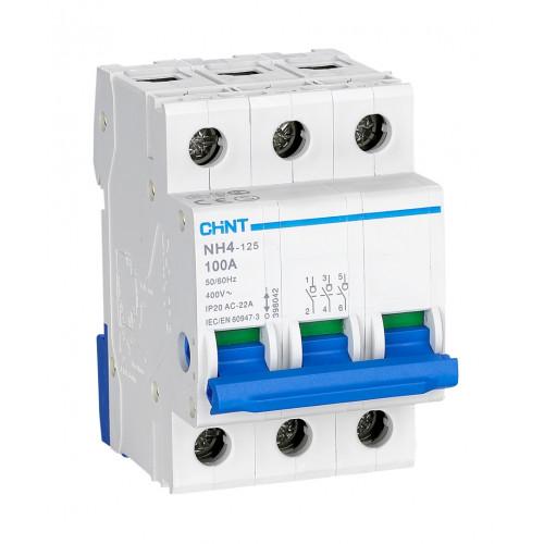 Выключатель нагрузки NH4 3P 100A (CHINT), арт.398042