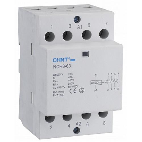 Контактор модульный NCH8-63/40 63A 4НО AC220/230В 50Гц (R) (CHINT), арт.256101