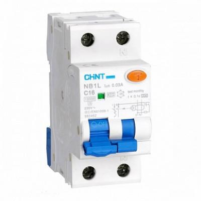 Диф. автомат NB1L 1P+N C10 30mA тип AC 10kA (36mm) (R) (CHINT), арт.203105
