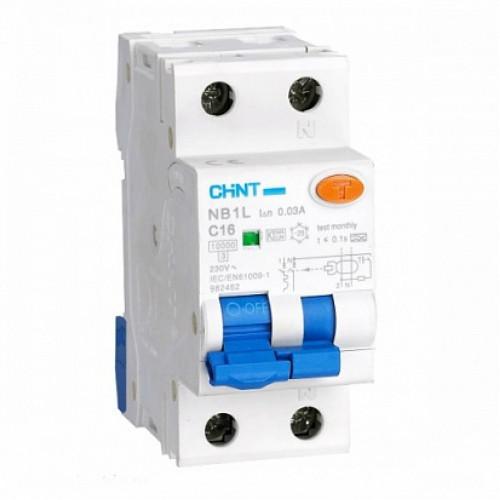Дифференциальный автомат   NB1L 1P+N B20 30mA тип AC 10kA (36mm) (R) (CHINT), арт.203100