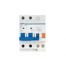 Диф. автомат NB1L 2P C25 100mA тип AC 10kA (54mm) (R) (CHINT), арт.205061