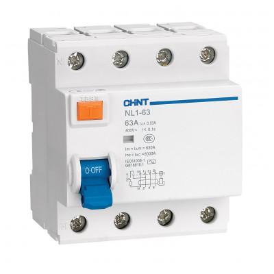 УЗО NL1-63 6kA 4P 40A 100mA тип AC (DB) (CHINT), арт.200227