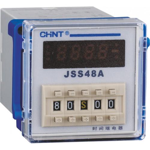 Реле времени JSS48A-11 11-контактный двух групповой переключатель многодиапазонной задержки питания AC/DC100V~240V (CHINT), арт.300082