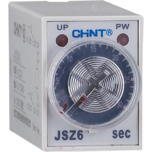 Реле времени JSZ6-2 задержка переключения 2 контактные группы 30s AC220V (CHINT), арт.294535