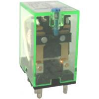Промежуточное реле с кнопкой тестирования NJDC-17(D)/4ZS  4 конт. с инд. LED 3А AC24В (CHINT), арт.651105
