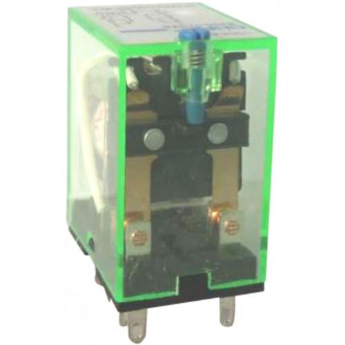 Промежуточное реле с кнопкой тестирования NJDC-17(D)/2Z  2 конт. с инд. LED 10А AC220В (CHINT), арт.651044