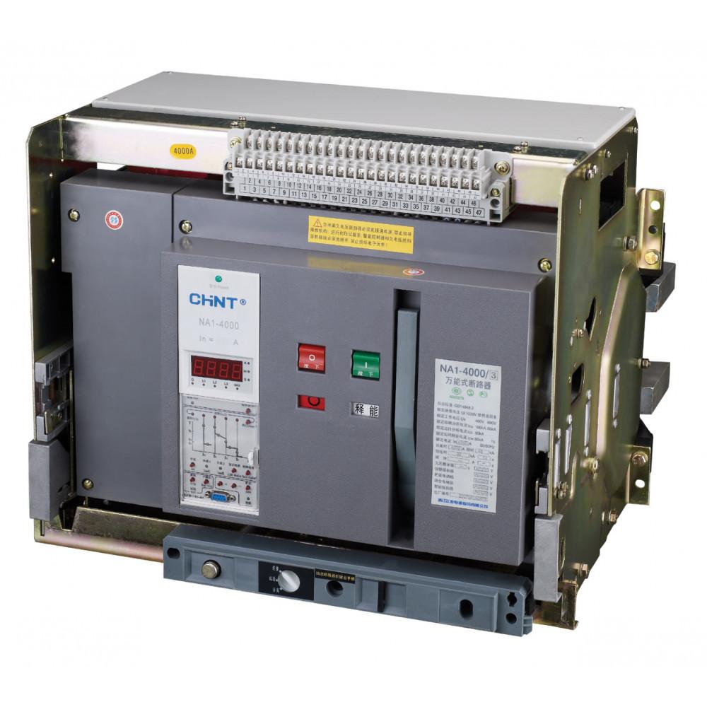 Воздушный авт. выкл. NA1-2000-2000М/3P выдвиж., 2000A, 80kA, AC220В тип М (CHINT), арт.101100