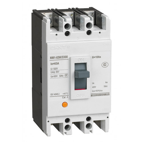 Автоматический выключатель NM1-125H/3Р 100A 50кА (CHINT), арт.126541