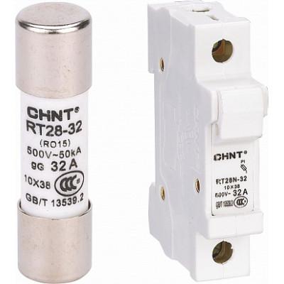 Плавкая вставка цилиндрическая RT28-32 4A 10х38 (CHINT), арт.520250