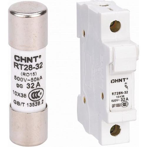 Плавкая вставка цилиндрическая RT28-32 2A 10х38 (CHINT), арт.520248