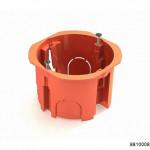 Коробка установочная D65x45мм для скрытого монтажа в полых стенах (с саморезами, с пластиковыми зажимами) оранжевая (CHINT), арт.8810008