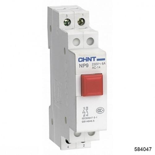 Кнопка модульная NP9-12D3/2 с подсветкой, 1НО+2НЗ, AC/DC230В, красная(CHINT), арт.584047