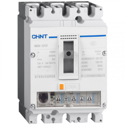 Автоматический выключатель NM8N-125S TM 3P 100А 50кА с рег. термомаг. расцепителем (CHINT), арт.271589