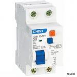Диф. автомат NXBLE-63Y 1P+N 16А 10mA электронный тип AС, х-ка D, 4.5kA (CHINT), арт.105533