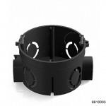 Коробка установочная D68x62мм для скрытого монтажа в кирпичных стенах (с саморезами) черная (CHINT), арт.8810003