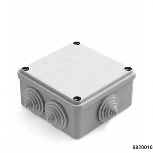 Коробка распаячная для наружного монтажа, RAL 7035, 6 гермовводов, 100х100х50мм, IP55 серая (CHINT), арт.8820016