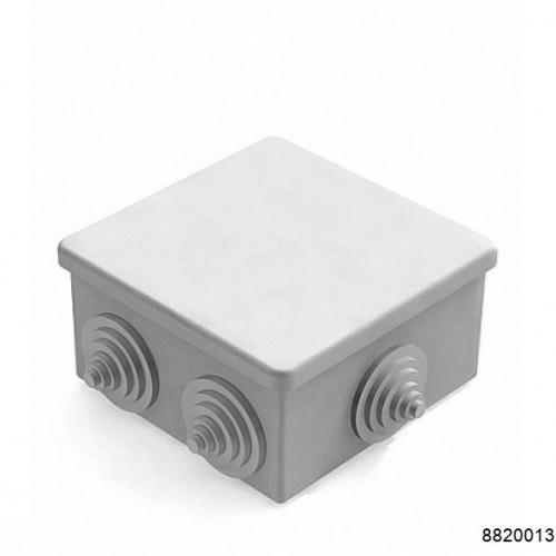 Коробка распаячная для наружного монтажа, 6 гермовводов, 85х85х40мм, IP44 серая (CHINT), арт.8820013