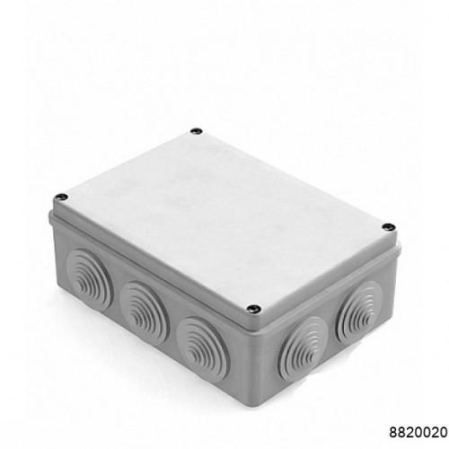 Коробка распаячная для наружного монтажа, 10 гермовводов, 190х140х70мм, IP55 серая (CHINT), арт.8820020