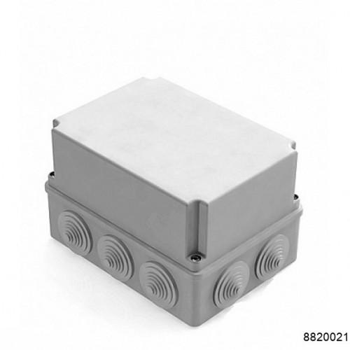 Коробка распаячная для наружного монтажа, 10 гермовводов, 190х140х120мм,  IP44 серая (CHINT), арт.8820021