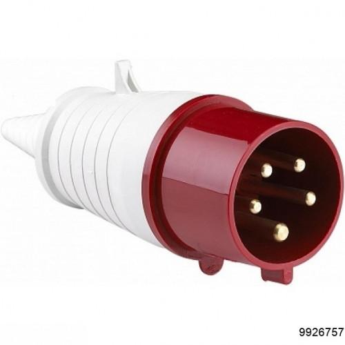 Вилка 025 3Р+РЕ+N 32А 380В IP44, арт.9926757
