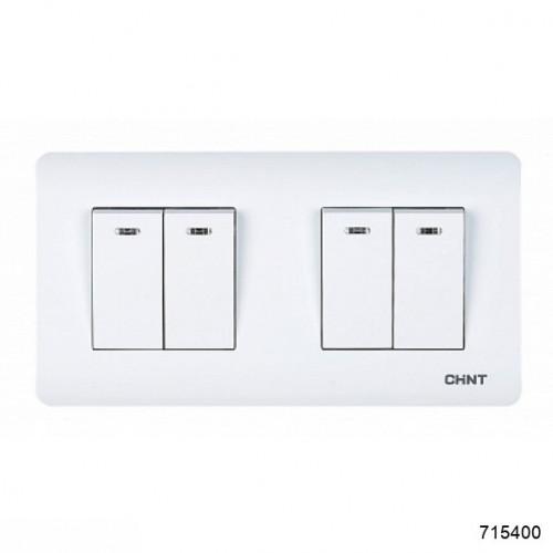 4-клавишный выключатель с LED-подсветкой 10А 250В (CHINT), арт.715400