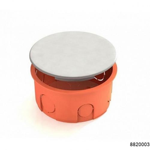 Коробка распаячная для скрытого монтажа в кирпичных стенах  D80х40мм (с перфорированным основанием) оранжевая (CHINT), арт.8820003