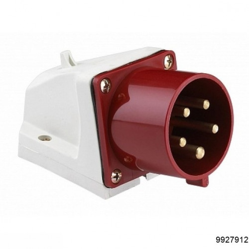 Вилка 525 стационарная 3Р+РЕ+N 32А 380В IP44, арт.9927912
