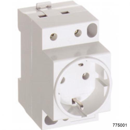 Розетка AC30-111 с заземляющим контактом на DIN-рейку (CHINT), арт.775001