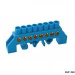 Шина N ноль в комб DIN-изол Стойка ШНИ-8х12-8-КС-Синий, арт.9901380