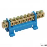 Шина N ноль на DIN-изол тип Стойка ШНИ-6х9-7-Синий, арт.9901182