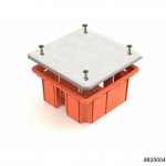 Коробка распаячная  для скрытого монтажа в кирпичных стенах 92х92х40мм оранжевая (CHINT), арт.8820004