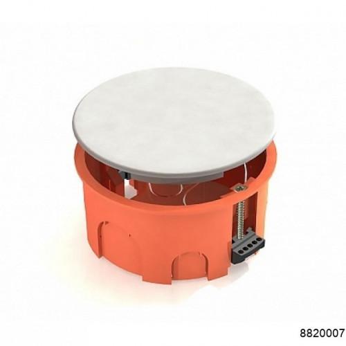 Коробка распаячная  для  скрытого монтажа в полых стенах  D80мм х 40мм (с пластиковыми зажимами, с перфорированным основанием) оранжевая (CHINT), арт.8820007