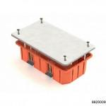 Коробка распаячная для скрытого монтажа в полых стенах 120х92х45мм (с пластиковыми зажимами), арт.8820009