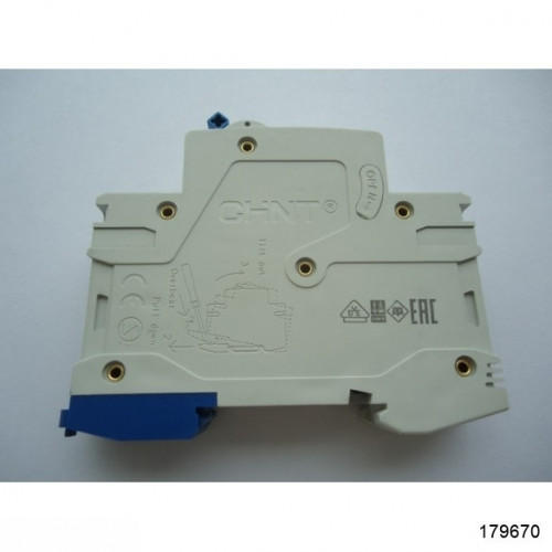 Автоматический выключатель NB1-63 2Р 10А 6кА х-ка D (CHINT), арт.179670