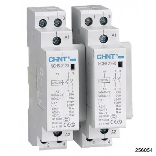 Контактор модульный NCH8-20/20 20A 2НО AC220/230В 50Гц (R) (CHINT), арт.256054