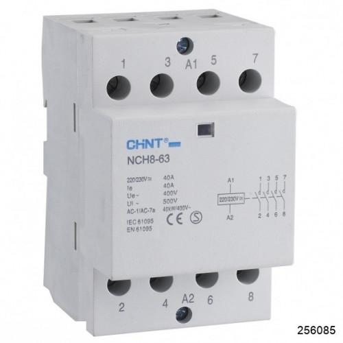 Контактор модульный NCH8-20/40 20A 4НО AC220/230В 50Гц (R) (CHINT), арт.256085