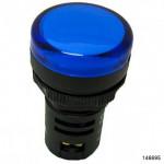 Индикатор помехозащищенный ND16-22D/4K2 синий АС 230В (CHINT), арт.146695