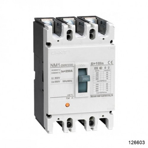 Автоматический выключатель NM1-250H/3Р 160A 50кА (CHINT), арт.126603