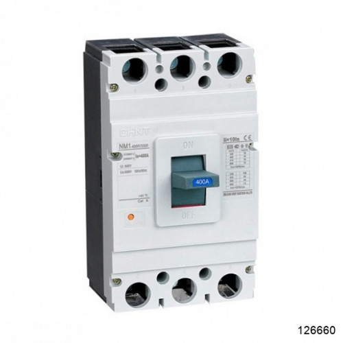 Автоматический выключатель NM1-400H/3Р 350А 50кА (CHINT), арт.126660