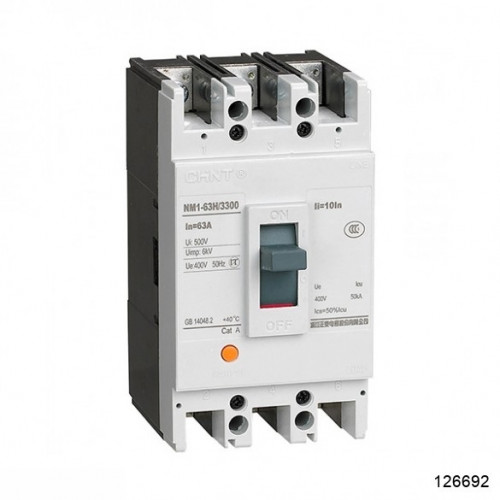 Автоматический выключатель NM1-63H/3Р 10А 35кА (CHINT), арт.126692