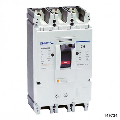 Автоматический выключатель NM8-400H 3Р 400А 100кА (CHINT), арт.149734