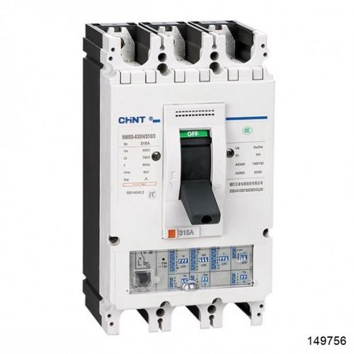 Автоматический выключатель NM8S-400H 3Р 315А 100кА с электронным расцепителем (CHINT), арт.149756