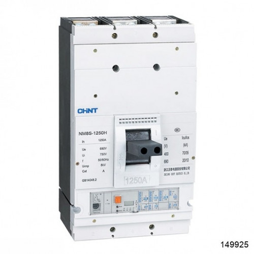Автоматический выключатель NM8S-800S 3Р 700А 50кА с электронным расцепителем (CHINT), арт.149925