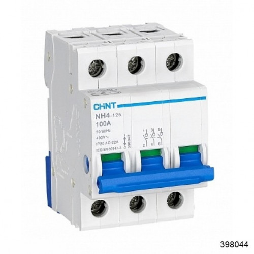 Выключатель нагрузки NH4 3P 63A (CHINT), арт.398044