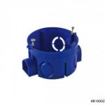 Коробка установочная D68x42мм  для скрытого монтажа в кирпичных стенах синяя (с саморезами) (CHINT), арт.8810002