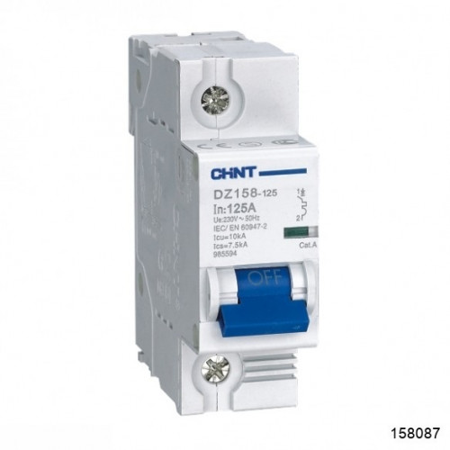Автоматический выключатель DZ158-125H 1P 100A 10kA х-ка (8-12In) (CHINT), арт.158087
