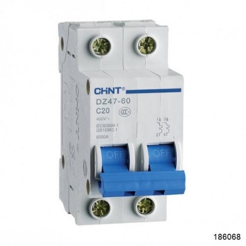 Автоматический выключатель DZ47-60 2Р 32А 4.5кА х-ка C (CHINT), арт.186068