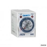 Реле времени JSZ6-2 задержка переключения 2 контактные группы 60s AC220V (CHINT), арт.294538
