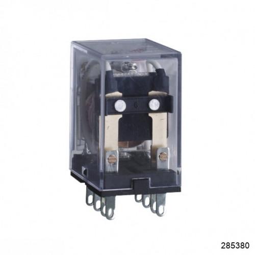 Промежуточное реле JZX-22F(D) 4 конт. с инд. LED 3А 220В AC (CHINT), арт.285380